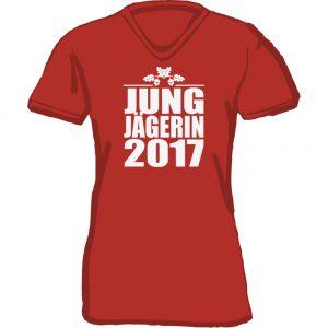 T-Shirt Jungjägerin Eichel-rot