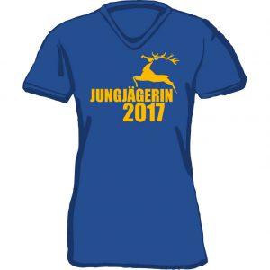 T-Shirt Jungjägerin Hirsch-royal