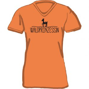 T-Shirt Waldprinzessin-orange