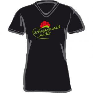 T-Shirt schwarzwald mädle-schwarz
