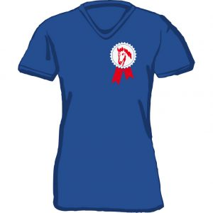 T-Shirt Pferderosette royal