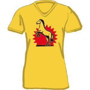 T-Shirt Steigendes Pferd gelb