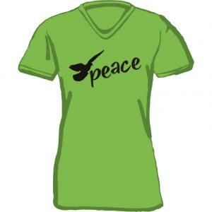 T-Shirt D peace apfelgruen