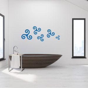 Wandtattoo Aquasymbol