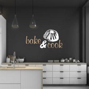 Wandtattoo bake cook