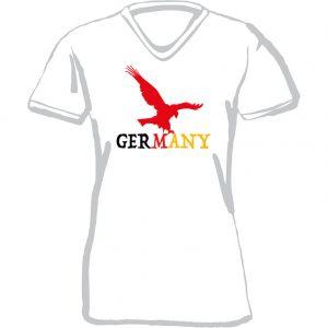 T-Shirt D Germany Adler weiß