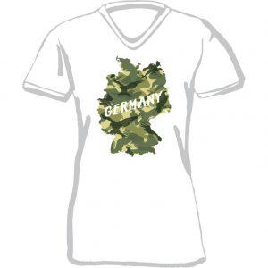 T-Shirt D Land Germany Adler weiß