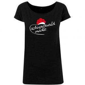 T-Shirt long D Schwarzwald Mädle schwarz