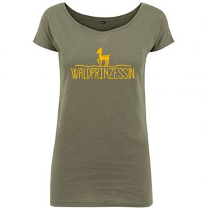 T-Shirt long D Waldprinzessin olive