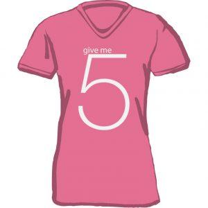 T-Shirt D give me 5 light berry
